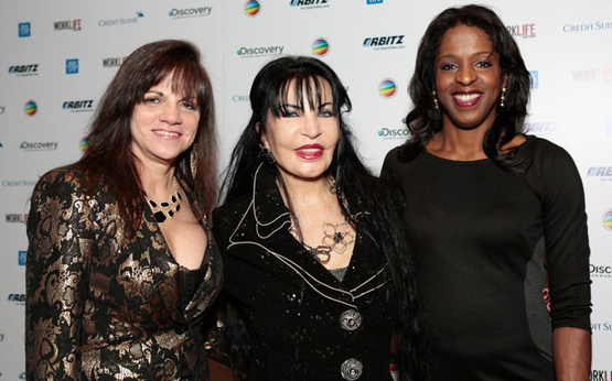 "(photo credit: newyorksocialdiary.com) From left to right: Lori Sokol, Loreen Arbus, and Stacey Tisdale. Tisdale on WLM Gala ""We're here to celebrate how far we have come. I find it inspiring to know how small aspects can alter someone"""