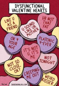 Candy hearts for the pessimistic