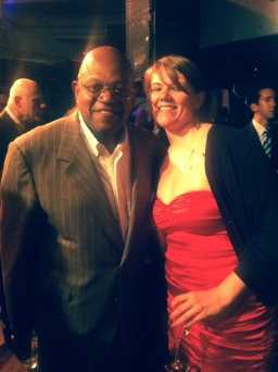 Charles Dutton and Music Editor, Shanna Gibbs Photo credit to Meghan Daigneau